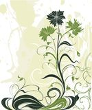 Vector background with flowers in grunge style Stock Photography