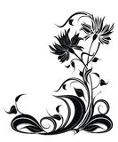 Vector background with flowers in grunge style Royalty Free Stock Photos