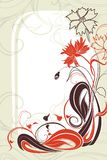 Vector background with flowers in grunge style Royalty Free Stock Image