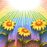 Vector background with flowers Royalty Free Stock Image