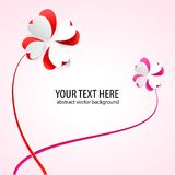 Vector background with flowers. Scarlet heart Stock Images