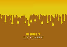 Vector background with flowing honey. Royalty Free Stock Images