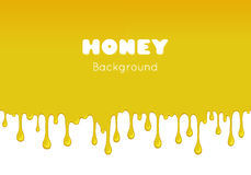 Vector background with flowing honey. Stock Image
