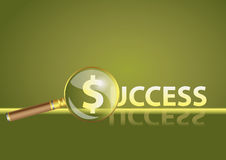 Vector background Focus on success. Focus on success green  background with dollar sign Stock Photos