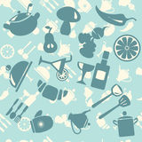 Vector  background  Food Icon Pattern - Illustration Royalty Free Stock Photography