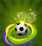 Vector background on the football theme Royalty Free Stock Photos