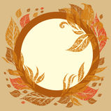 Vector background with frame with Autumn Leafs Stock Image