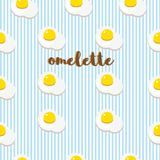 Vector background with fried eggs stock image