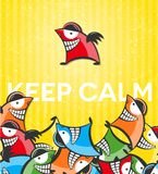 Vector background with funny characters Royalty Free Stock Photo