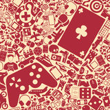 Vector background of the gaming icons Royalty Free Stock Photos