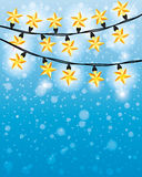 Vector background. Garland. Royalty Free Stock Photography