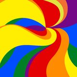 Vector background. Gay Pride Movement in both color and dimensions Stock Image