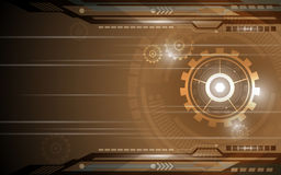 Vector background gear cog technology innovation concept Royalty Free Stock Photo