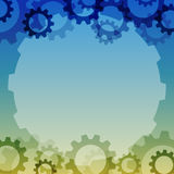 Vector background with a gear element. Industrial components Stock Photos