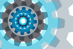 Vector background with a gear element. Stock Image