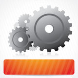 Vector background with gears Stock Photography
