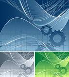 Vector background with gears Royalty Free Stock Photo