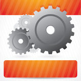 Vector background with gears and place for text Royalty Free Stock Image