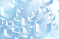 Vector background with geometric shapes Stock Photography