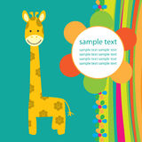 Vector background with giraffe Royalty Free Stock Photos