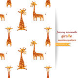 Vector background with giraffes. Royalty Free Stock Images