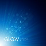 Vector background with glowing rays Royalty Free Stock Photography