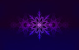 Vector background with glowing snowflakes Royalty Free Stock Photography