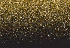 Vector background with gold glitter. Gold sparkle vector template for your text. Template for your design vector illustration