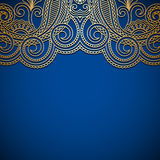 Vector background with gold vintage pattern. Stock Images
