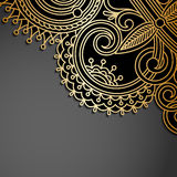 Vector background with gold vintage pattern. Royalty Free Stock Images