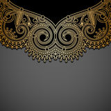Vector background with gold vintage pattern. Stock Photo