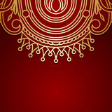 Vector background with gold vintage pattern. Stock Photography