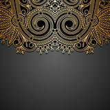 Vector background with gold vintage pattern. Stock Image