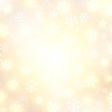 Vector background with golden falling snow Royalty Free Stock Image