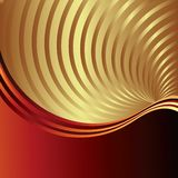 Vector background with golden swirl rays. Beautifull Vector background with golden swirl rays Royalty Free Stock Photos