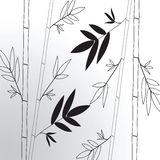 Vector background with gray bamboo Stock Photo