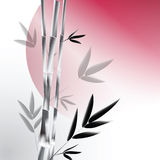 Vector background with gray bamboo Royalty Free Stock Photo