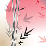 Vector background with gray bamboo branches Royalty Free Stock Images