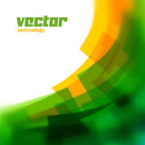 Vector background with green blurred lines Stock Images