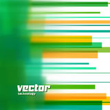 Vector background with green blurred lines Stock Image