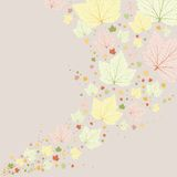 Vector background. Green leaves with veins. Royalty Free Stock Image