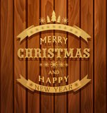 Vector background with greeting inscription Christmas background Stock Image