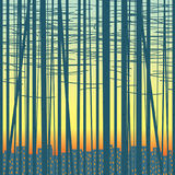 Vector background with a grove against the city Stock Photos