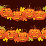 Vector  background Halloween pumpkin Stock Image
