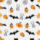 Vector background of Halloween-related objects and. Creatures Stock Photos