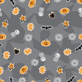 Vector background of Halloween-related objects and. Creatures Stock Photography
