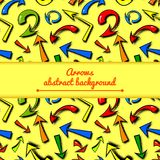 Vector background of hand drawn colorful comics Royalty Free Stock Images
