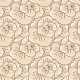 Vector background with hand drawn flowers Stock Photography