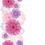 Vector background with hand drawn flowers Royalty Free Stock Images