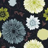Vector background with hand drawn flowers Royalty Free Stock Image